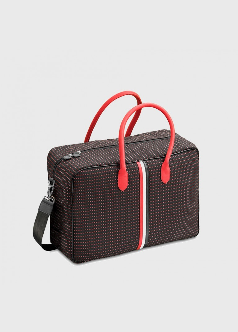 Carry-on bag Giovana black with red spots