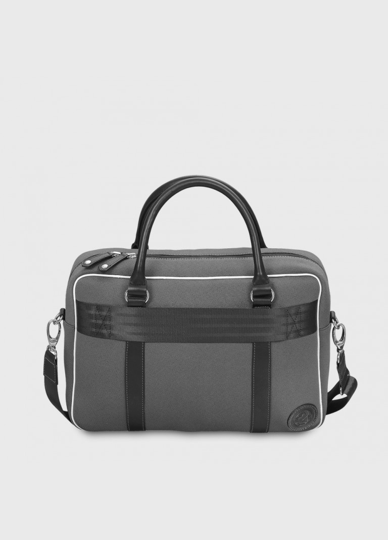 Grey and black upcycled laptop Bag 13 inches