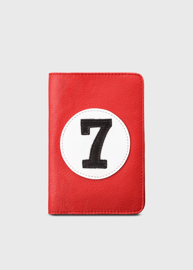 Red leather wallet and purse for man or woman VBR7