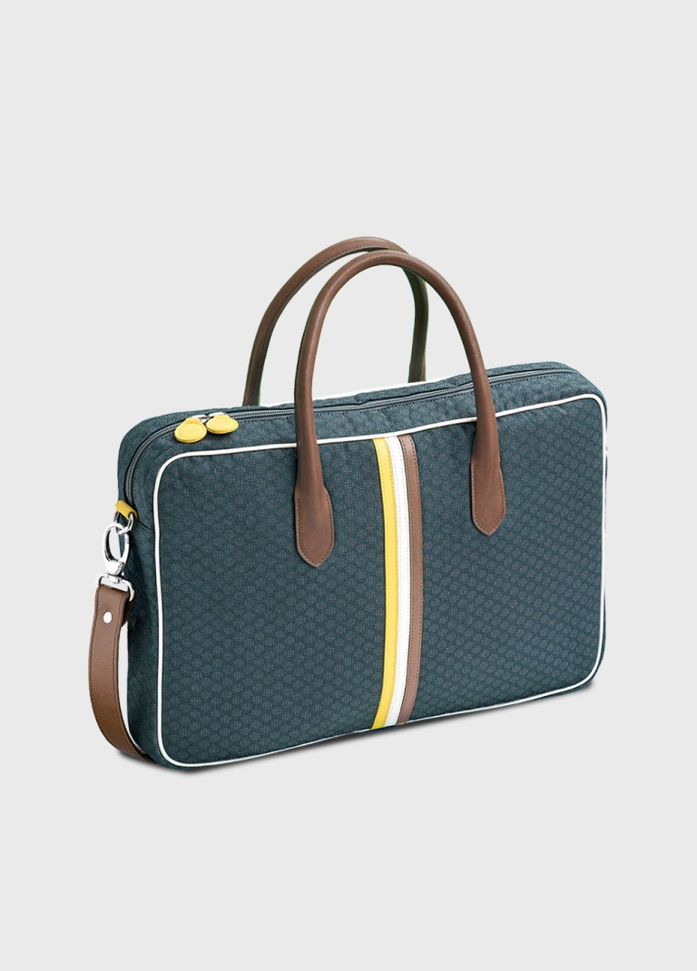 Michele 15 inch computer bag grey and blue