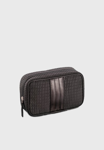 Small toilet bag in fabric and leather Billy black