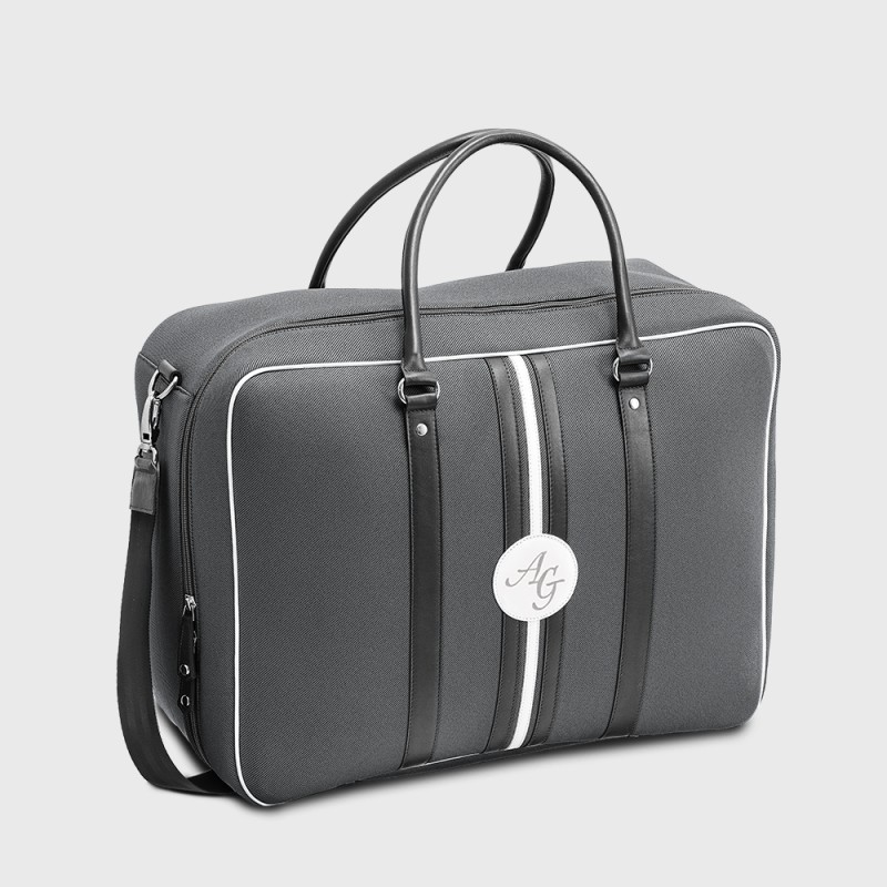 Customizable Andrew NBN grey and black cabin bag