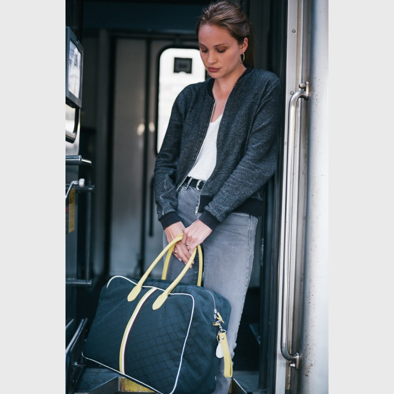 24h carry-on bag for woman in canvas and leather Giovana JBM3