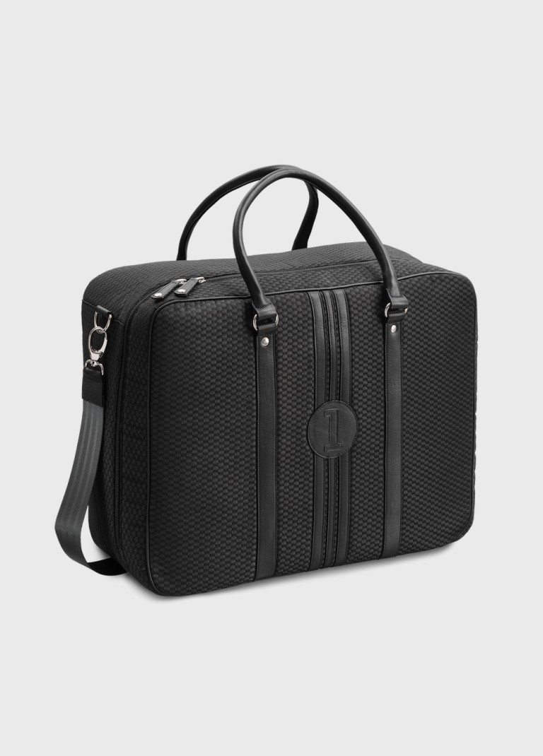 Black carry on bag for man Andrew