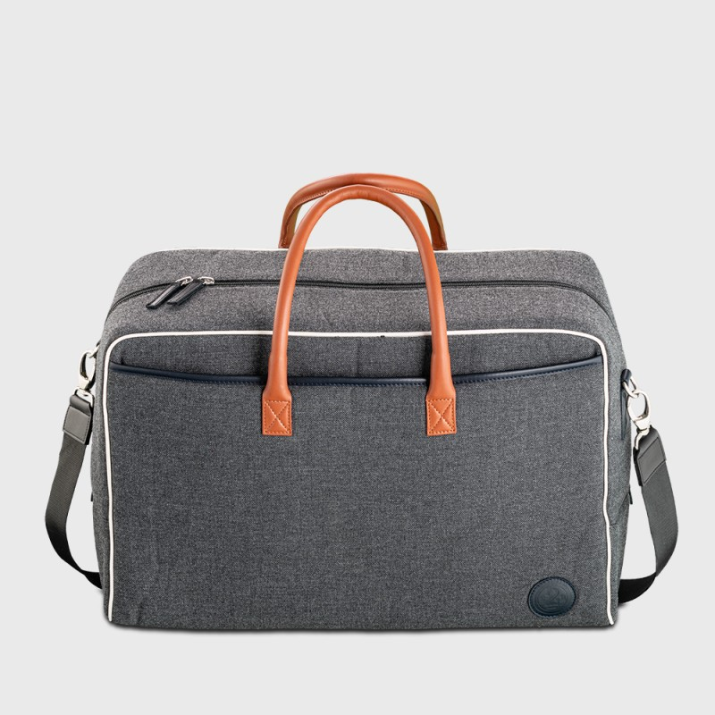 Ronaldo ABB unisex canvas and grey leather cabin baggage