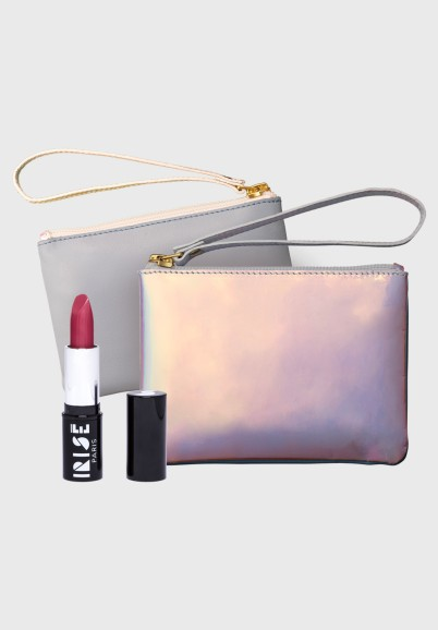Beauty pack : a leather pouch + a lipstick IRISE
