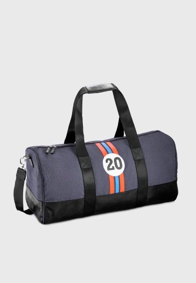 Retro travel bag for men in fabric and leather Riccardo RBR20